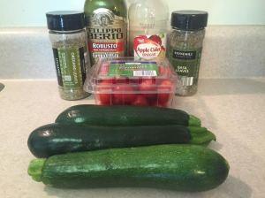 zucchini tomato salad ingredients